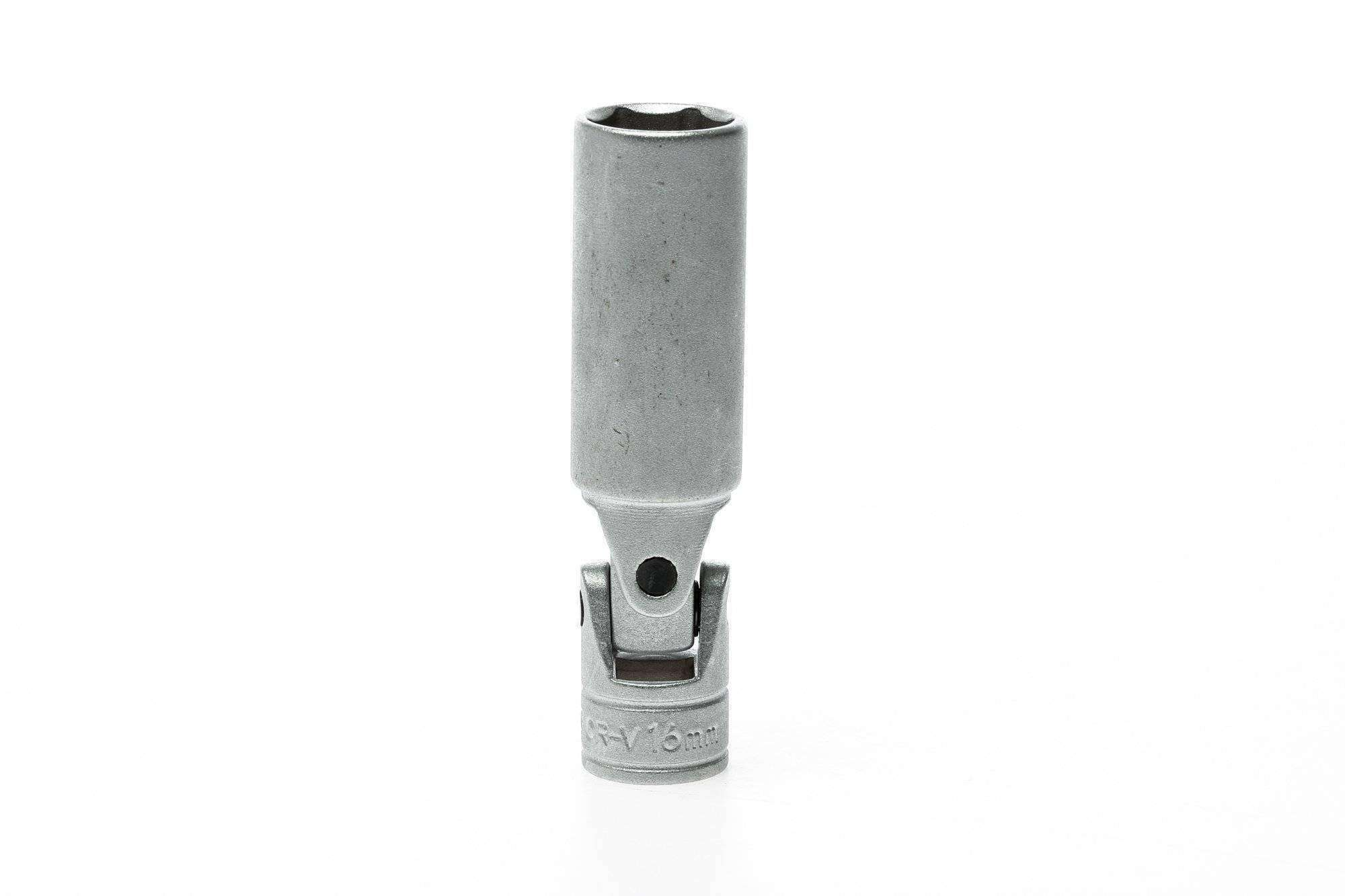 Teng Tools - 16mm 3/8 Inch Drive 6 Point Flexible Spark Plug Socket - M380041-C - Teng Tools USA