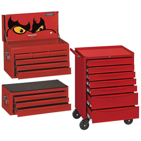Teng Tools 7 Series 7 Drawer Roller Cabinet w/ 8 Series SV Middle and Top Boxes - Teng Tools USA