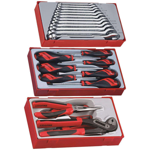 23 PIECE COMBINATION SPANNER, MEGA BITE PLIER AND SCREWDRIVER SET - Teng Tools USA