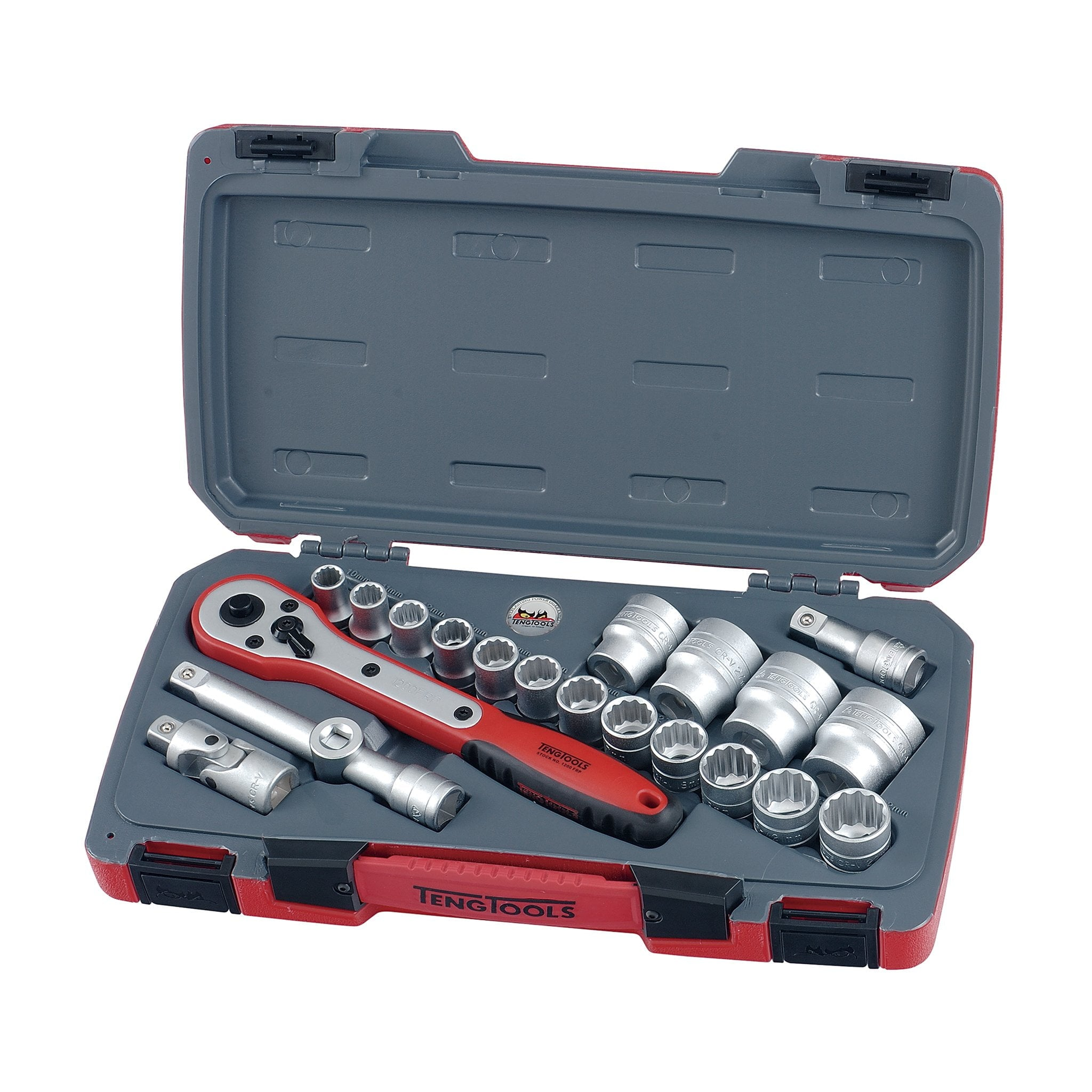 Teng Tools 21 Piece 1/2 Inch Drive Socket Set - T1221