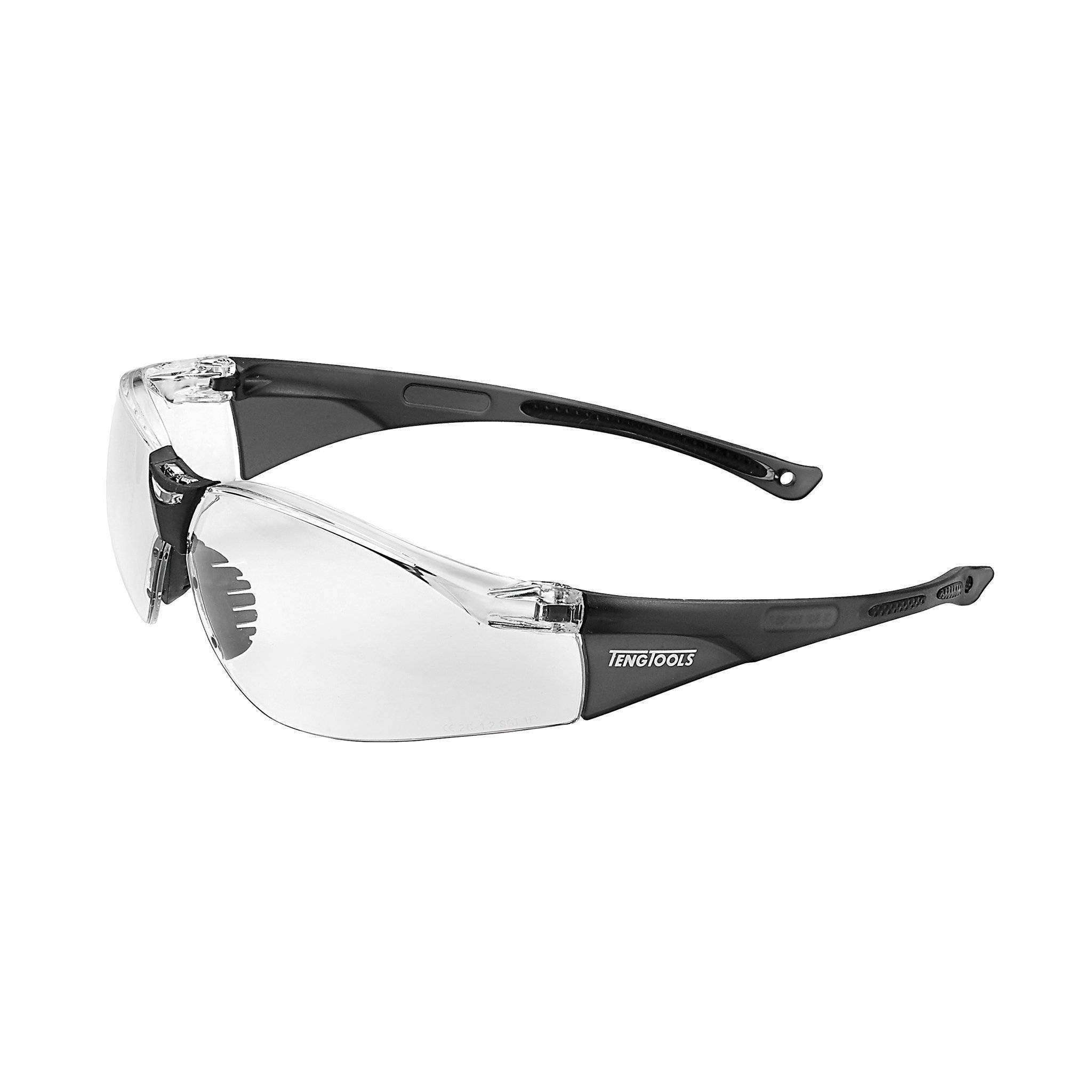 Teng Tools SG713 Clear Lens Sports Inspired Design safety Glasses - Teng Tools USA