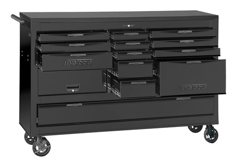 Teng Tools 67 Inch Wide 13 Drawer 3 Bay Black Roller Cabinet - TCW813UNBK