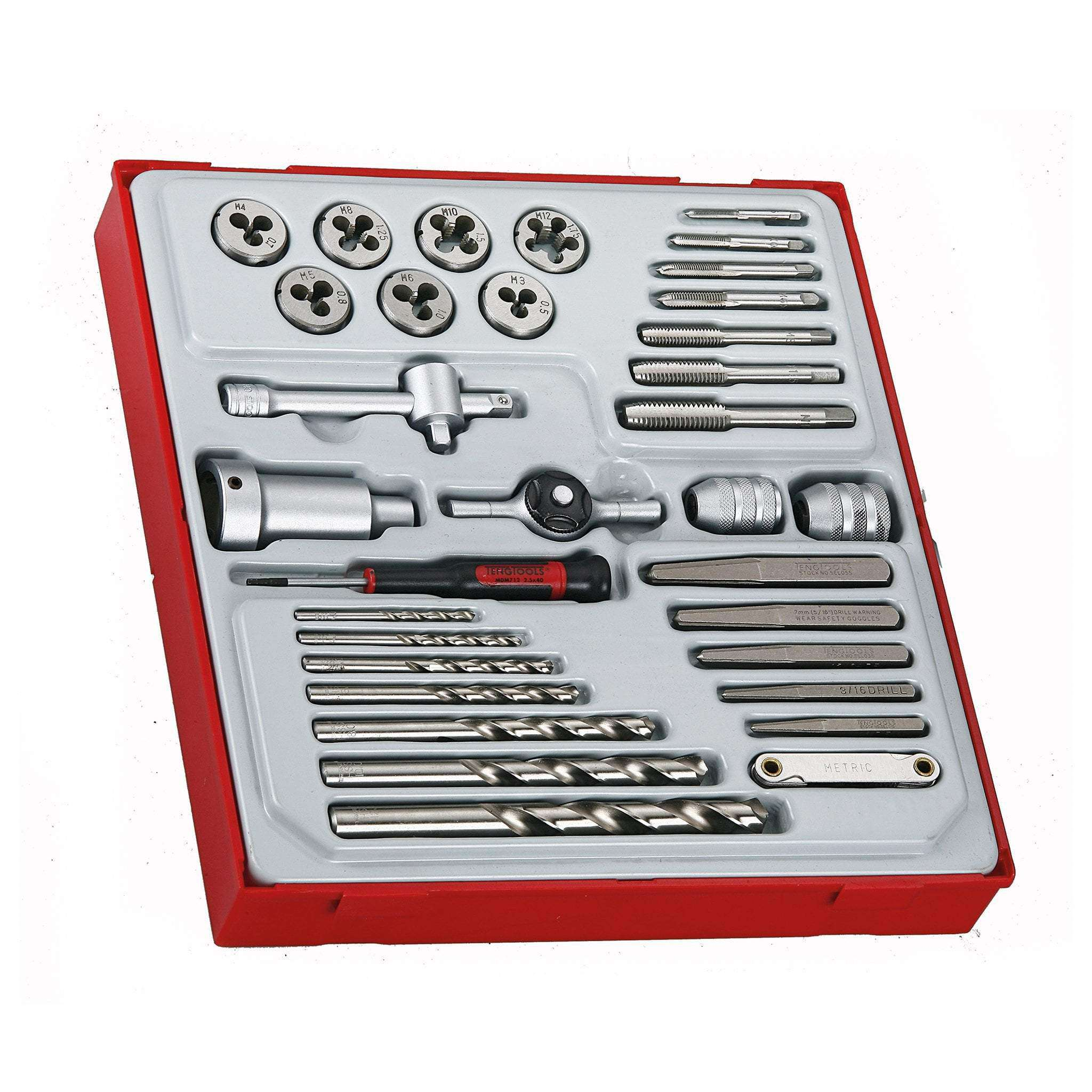 Teng Tools 34 Piece Tap and Die Set - TTDTD34