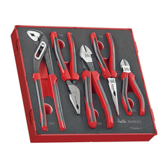 Teng Tools TED441-T - 5 Piece Plier Set in EVA Foam Tray - Teng Tools USA