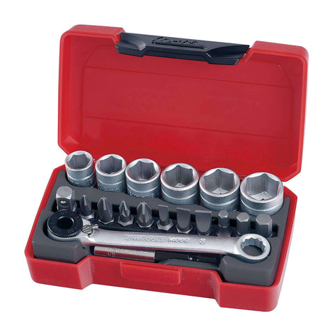 Teng Tools - 19 Piece 1/4 inch Drive Socket Set - TEN-O-T1419 - Teng Tools USA