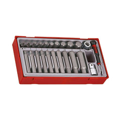 Teng Tools - 23 Piece 1/2 inch Drive Regular/Long Hex Bit Set - TEN-O-TTHEX23 - Teng Tools USA