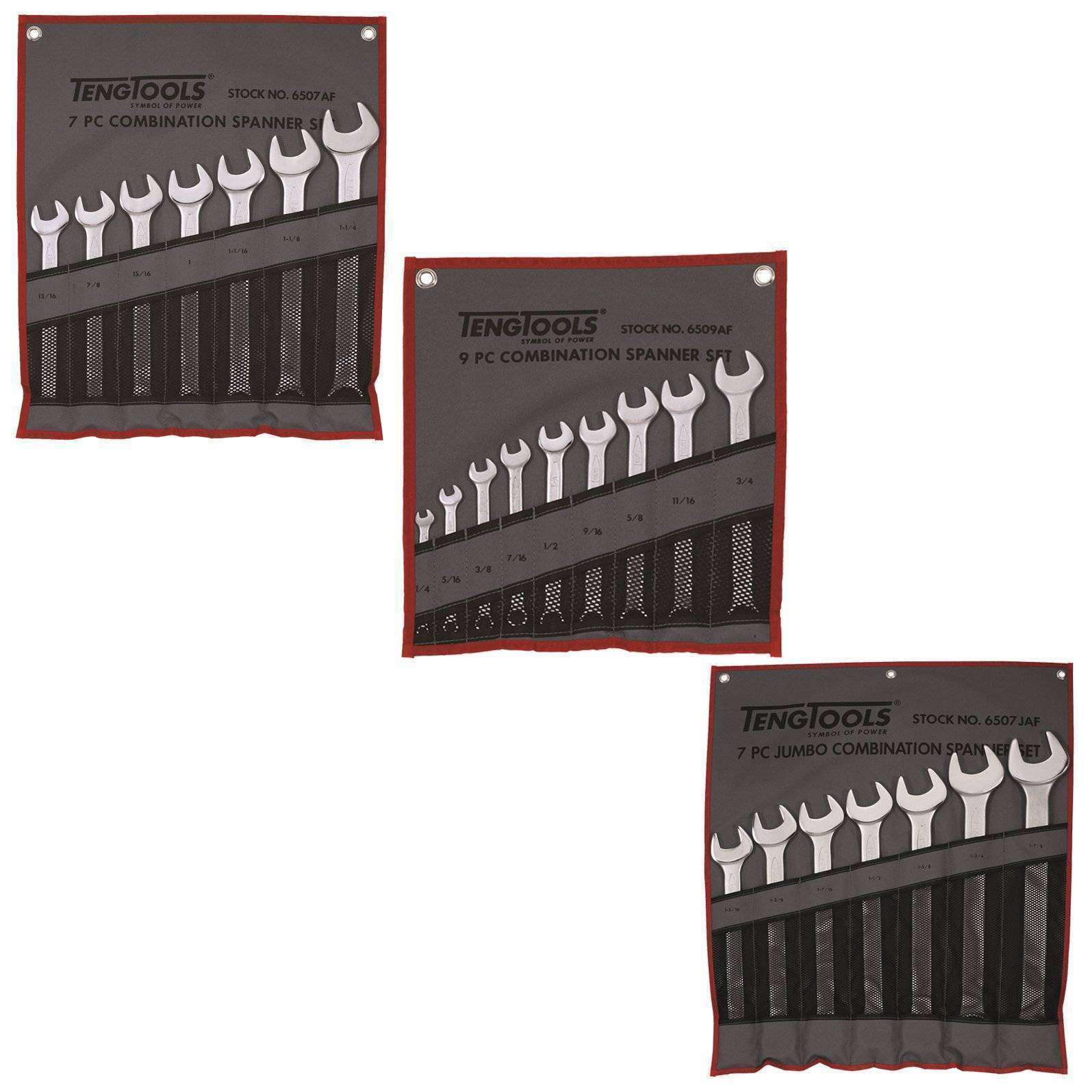 Teng Tools - 23 Piece Combination Spanner Set - TEN-O-6507AF-KIT1 - Teng Tools USA
