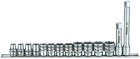 Teng Tools MS3814 - 14 Piece 3/8 Inch Drive Stainless Steel Socket Set - Teng Tools USA