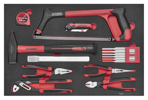Teng Tools 15 Piece Garage and Auto Mechanics and DIY General Service Repair Tool Set - TTEPS15