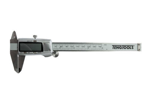 Teng Tools 150mm 4 Function Metric and SAE Digital Calipers - CALD150