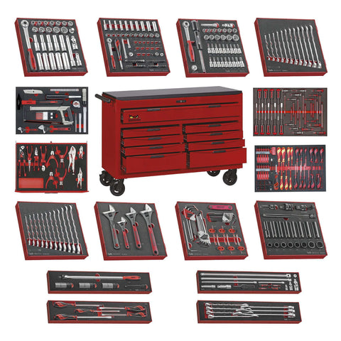 Teng Tools 9 Drawer 53 Inch Wide Mega Bundle Foam Tool Kit - TCW809N