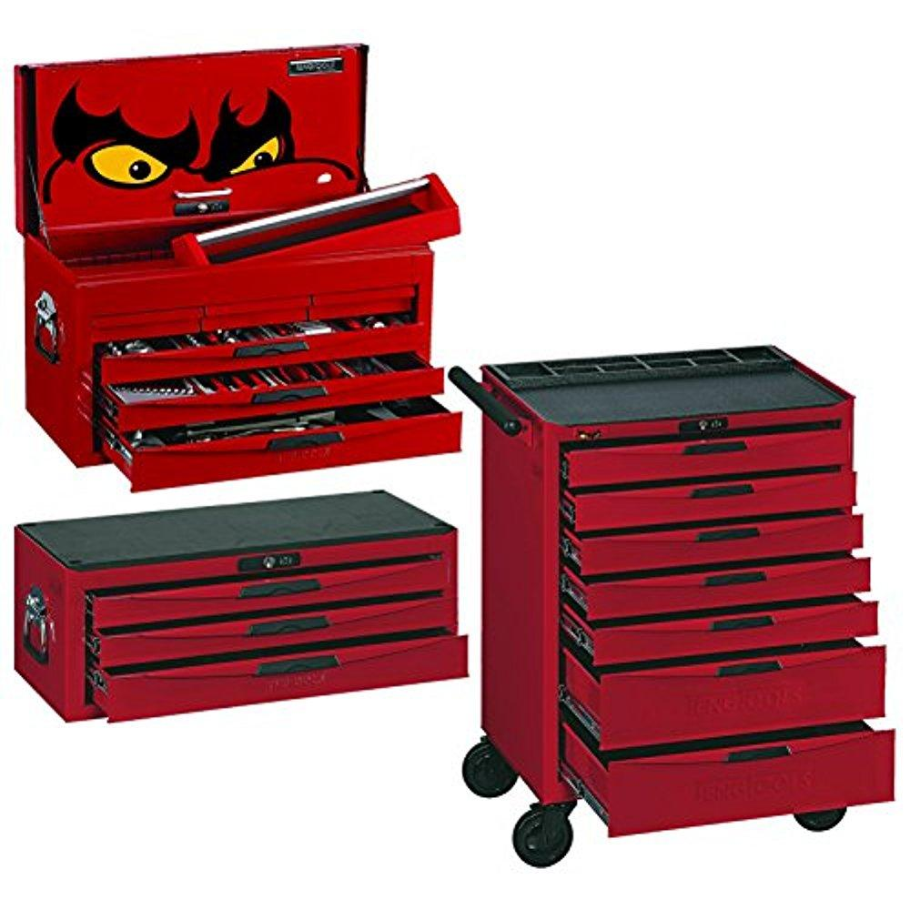 Teng Tools 140 Piece Service Tool Kit w/ 8 Series Middle Box and Roller Cabinet - Teng Tools USA