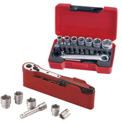 "Teng Tools - 32 Piece 3/8"" and 1/4"" Drive Socket Set - TEN-O-M3812N1-KIT1 - Teng Tools USA"