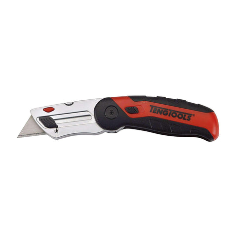 Heavy Duty Fixed Blade Folding Universal Utility Knife Box Cutter - Teng Tools 712 - Teng Tools USA