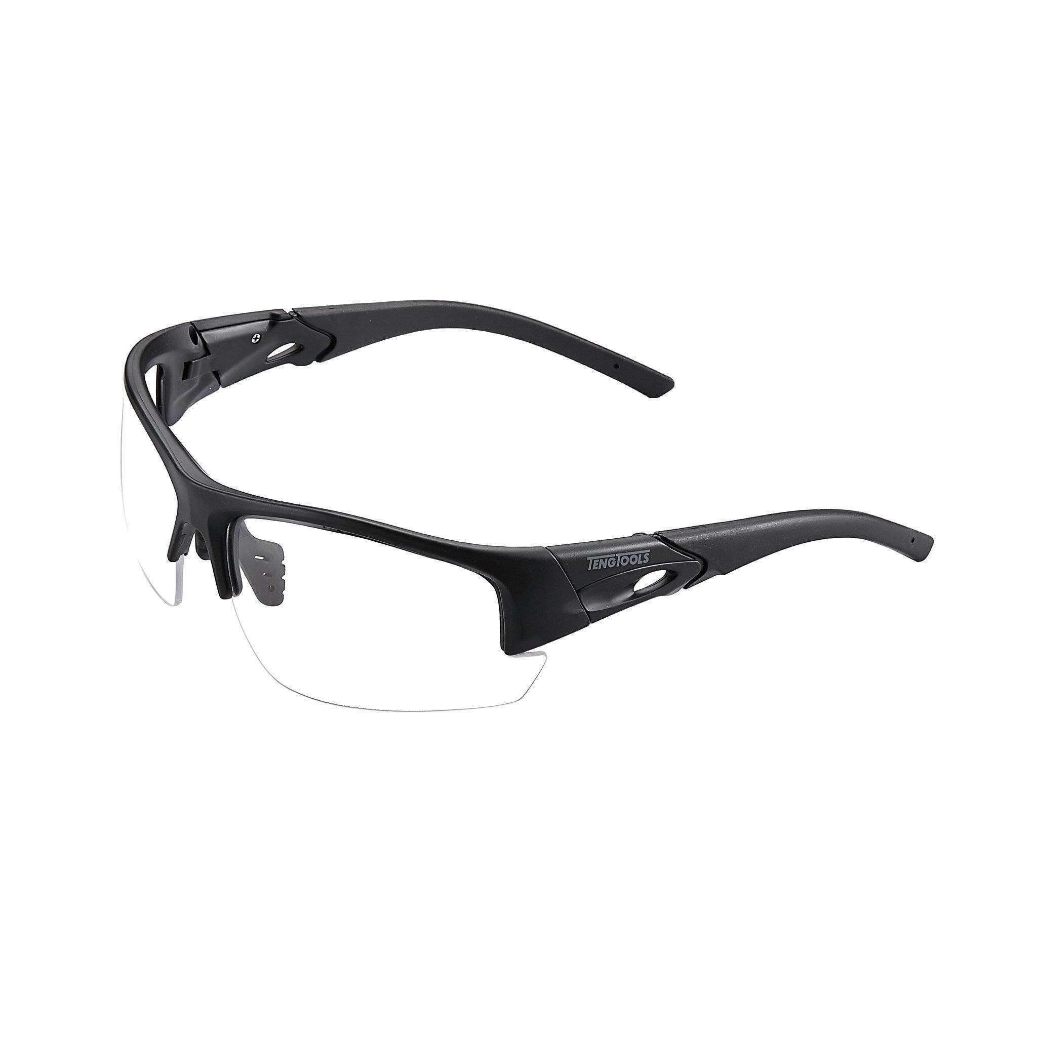 Black Safety Glasses - Clear Lenses - Teng Tools SG003 - Teng Tools USA