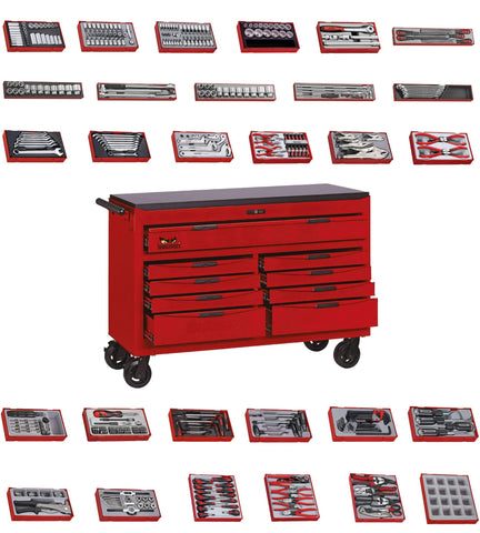 Teng Tools 515 Piece SAE Tool Kit in a 53 Inch Wide Tool Box