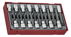 "Teng Tools TTTXH15 - Teng Tools 15 Piece 1/2"" Drive Hex and TX Bit Socket Set - Teng Tools USA"