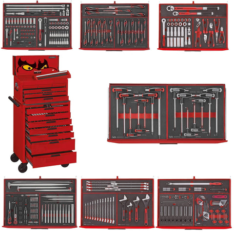 Teng Tools 417 Piece Complete Mixed EVA Foam Hand Tool Kit + 2 Heavy Duty Toolboxes - TCEMM417N