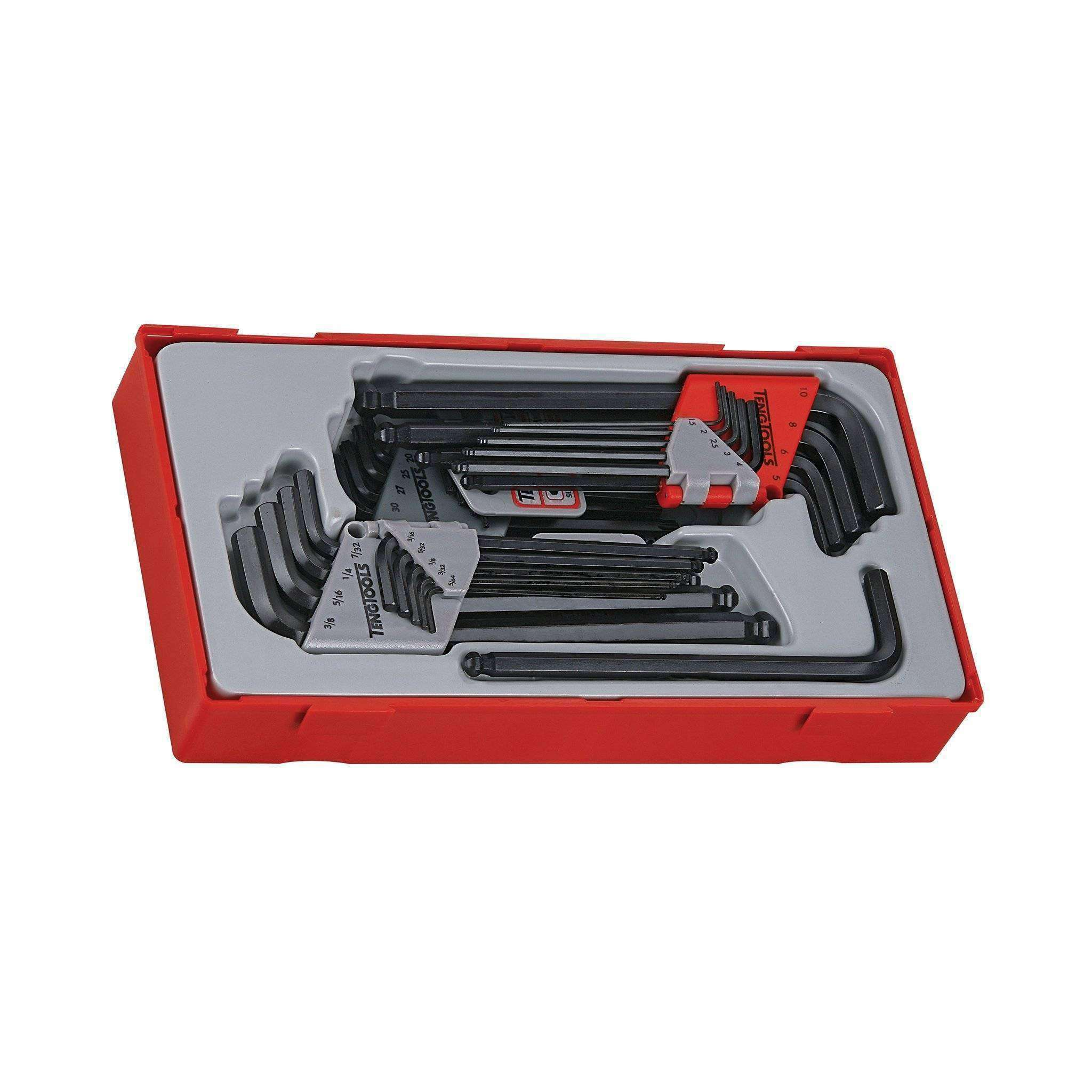 Teng Tools 28 Piece Metric/AF Hex & TX Key Set - Teng Tools USA