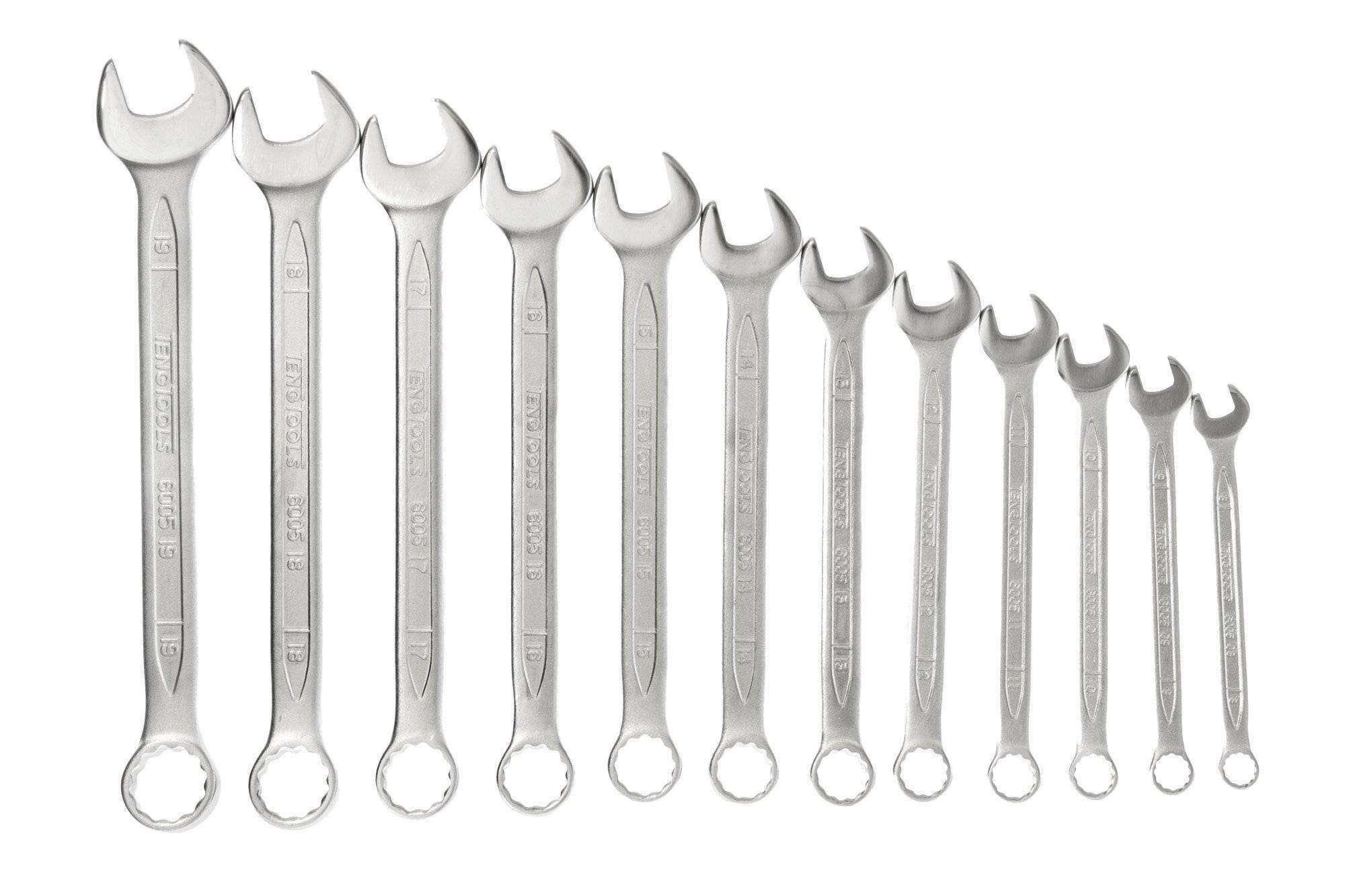 Teng Tools - 12 Piece Metric Combination Spanner Set 8-19mm - TEN-O-6512N - Teng Tools USA