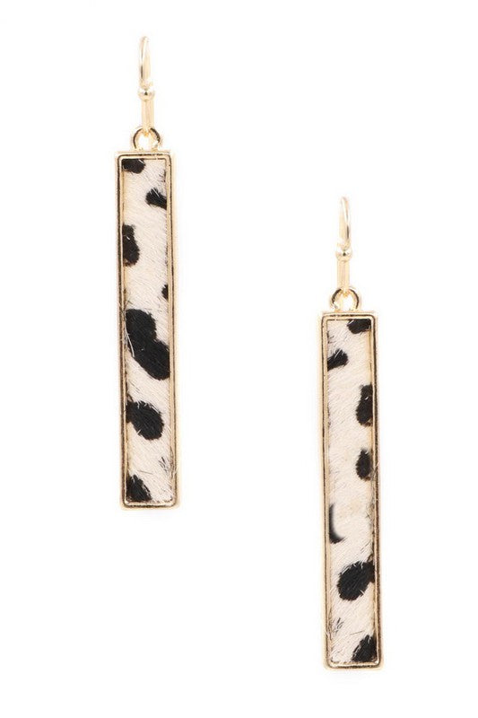 Animal Print Bar Earrings