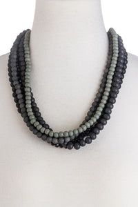 Multi Strand Beaded Necklace - B49