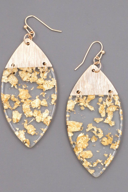 Metallic Foil Earrings