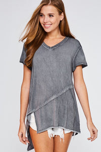 Charcoal Wash Top - T451