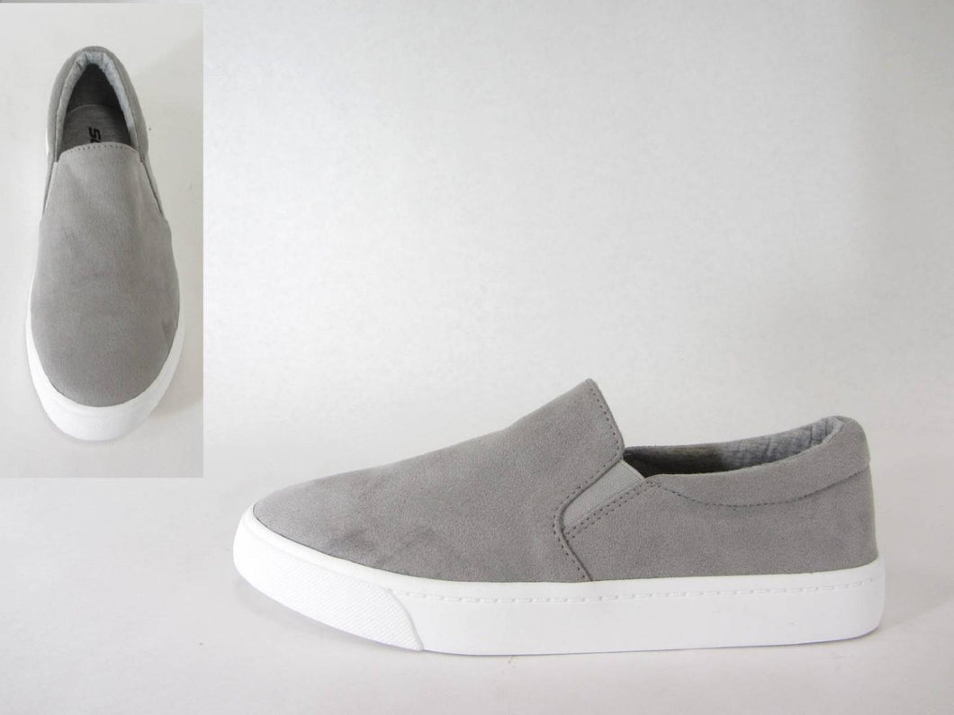 Grey Slip-On Sneakers