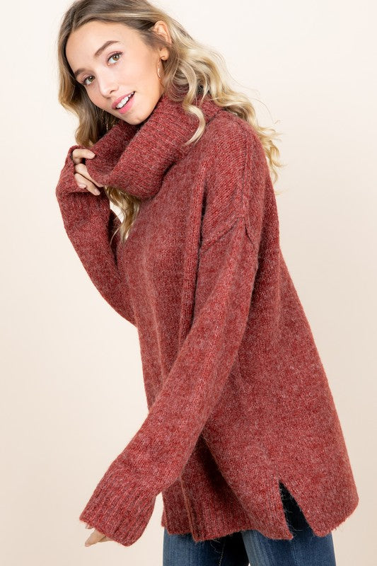 Brick Chunky Oversize Sweater