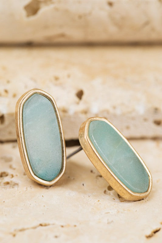 Seafoam Stone Earrings