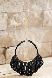 Beaded Tassel Pendant