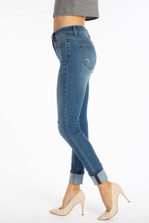 Medium Slight Distress Denim 7295M
