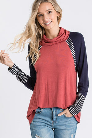 Multi Raglan Sleeve Top