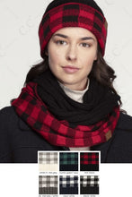 C.C Buffalo Infinity Scarf (Red/Black)