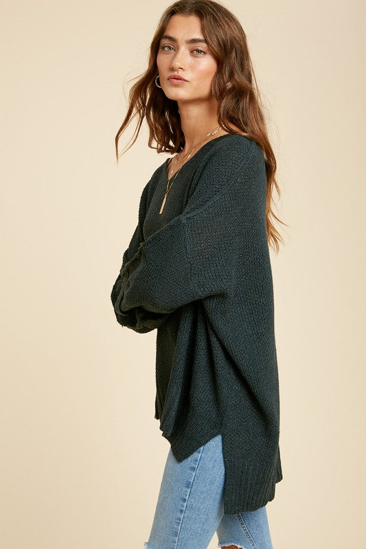 Blue Green Pullover Sweater
