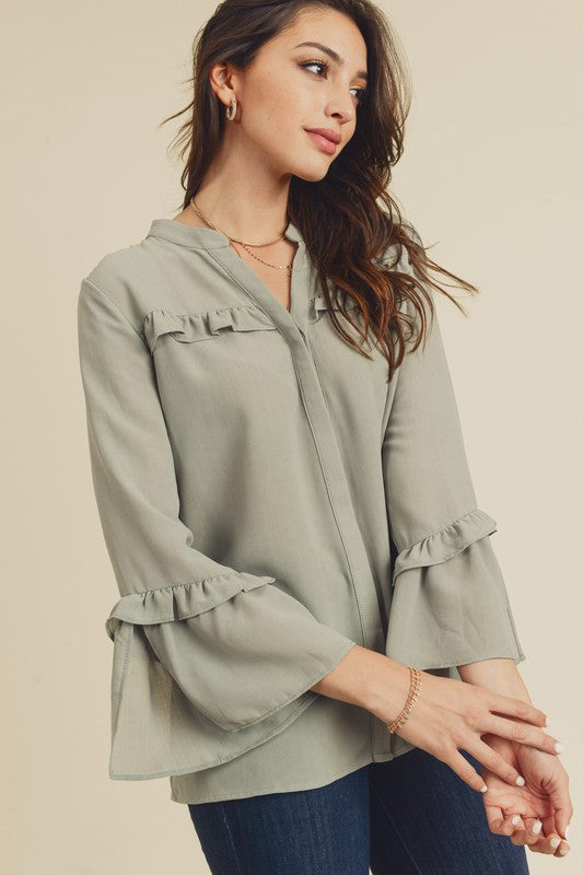 Ash Olive Button Down