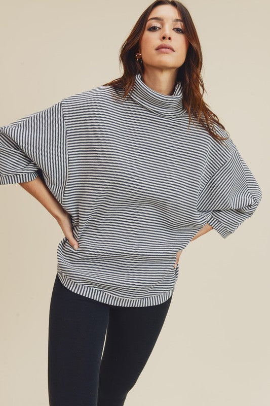 Charcoal Stripe Sweater - T836