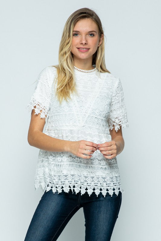 Ivory Lace Blouse