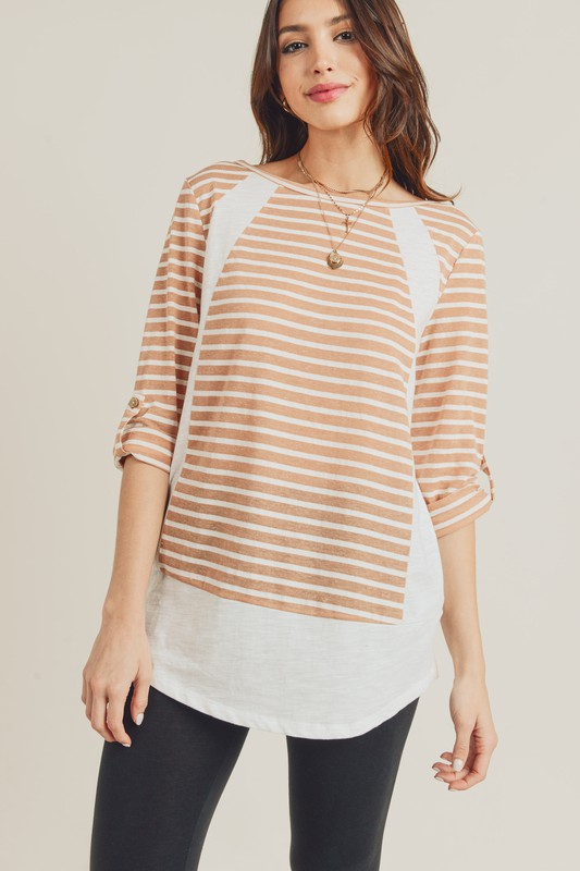 Toast Stripe Top