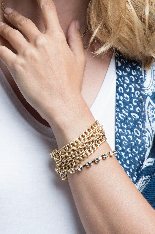 Layered Gold Bracelet