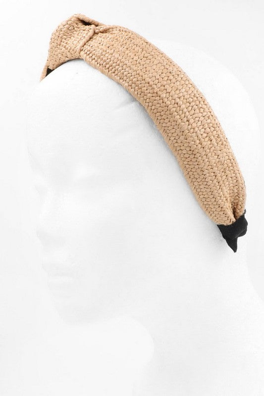Beige Knot Top Headband