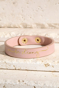 """Be Strong"" Bracelet (Pink)"
