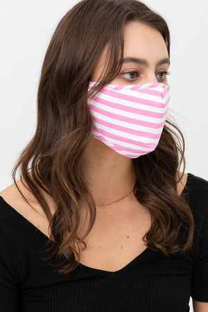 Pink Stripe Mask