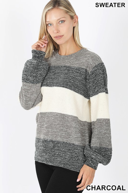 Grey Block Sweater