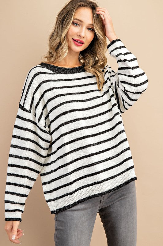 Off White Stripe Sweater