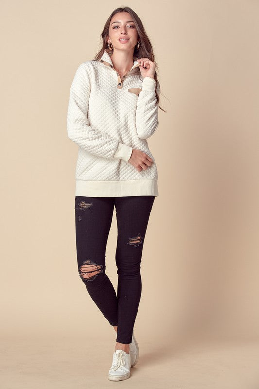 Cotton Padded Pullover