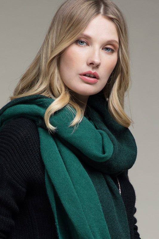 Green Two-Tone Scarf