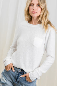 Ivory Brushed Knit Top