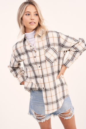 Neutral Plaid Shirt